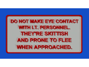 IT EYE CONTACT SIGN