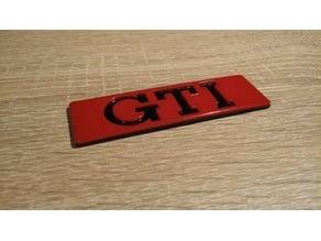 GTI MK2 Badge