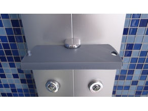 Showerpanel Duschpaneel Duschablage soap tray, Ablage, anchor for wipers