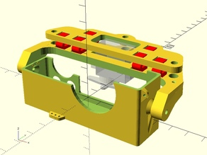 1-Axis Camera Gimbal for Canon IXUS 80IS (OpenSCAD, parametric)
