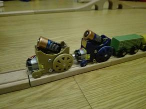 A simple ikea/brio railroad self-moving locomotive