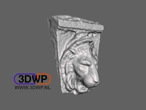 Lion Sculpture 3D Scan (Wall Hanger)