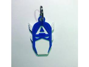 Captain America Keychain Revised