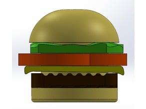 Hamburger Paper Clip Holder