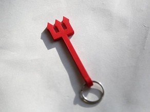 Man Utd Devil Fork w/ Key Ring