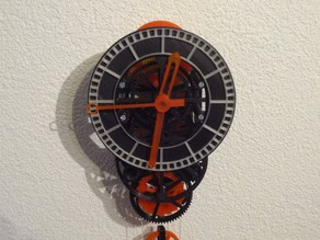 3D printed mechanical Clock with Anchor Escapement