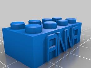 My Customized Lego Block Necklace/Keychain anna