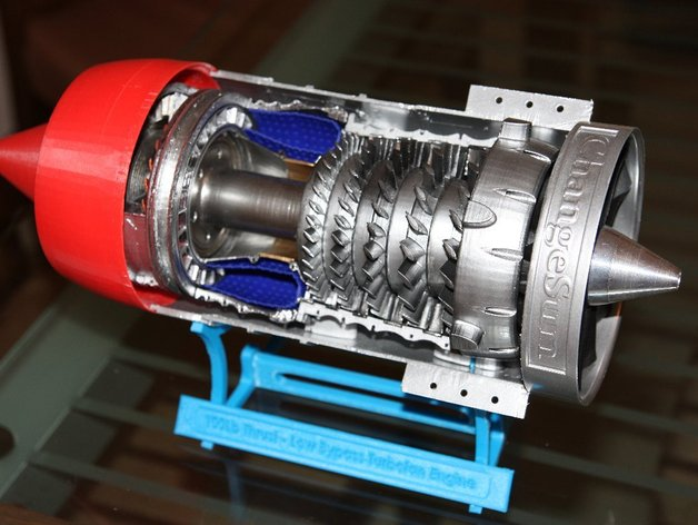 Low Bypass Turbofan Jet Engine by gahwar - Thingiverse