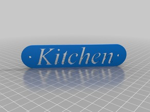 Kitchen sign plate