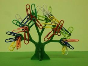 Paper clip tree / Arbre à trombones