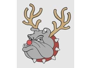 Festive Bulldog Ornament