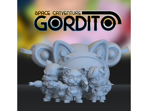 Space Catventure Gordito Playset