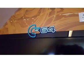 C64  Marquee arcade advertising sign for EL wire artwork retro gaming