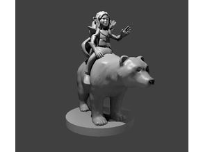 Halfling Druid on a Bear
