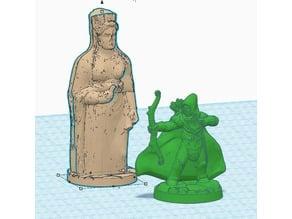 Caryatid Column Statue/Monster for 28mm Gaming