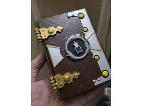 Skyrim / D&D themed locked book dice box