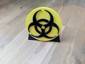 Badge danger biologique (biohazard) 150x19 mm