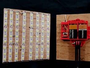 12v battery mount for LED project