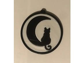 Moon Cat Medallion