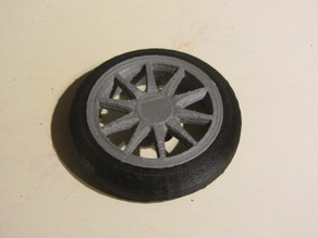 Strati Wheel 1/10 scale - fixed for printability