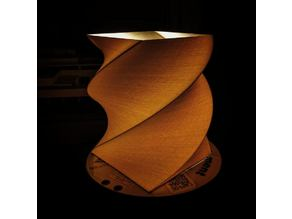 Torqued Square Extrusion Lamp Shade