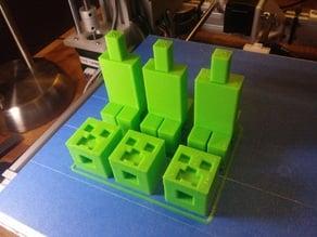 2-piece Minecraft creeper