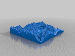 3D map of Lauterbrunnen valley, Switzerland