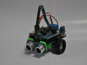 Baby SCRU-FE - Learn How To Program a Sensor Robot with Arduino!  Continuous Rotation Servos and an Ultra Sonic Sensor - Battery Box Turtlebot Swarm Obstacle Avoidance Robot