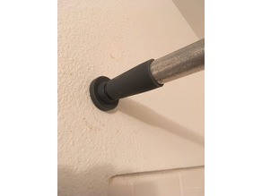 Shower curtain rod tensioner