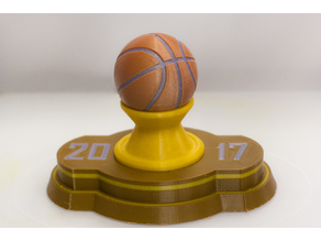 Multi-Color Basketball Trophy