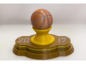 Multi-Color Basketball Trophy
