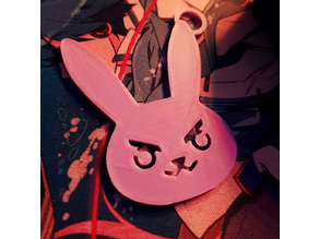 D.VA Bunny Keychain