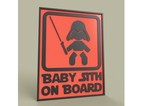 StarWars Baby Sith On Board Darth Vader