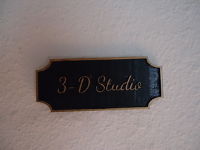 3-D Studio Plaque