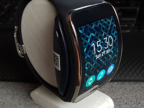 Two part Samsung Galaxy Gear S stand (includes space for charger)