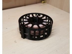Boxed wire storage spool