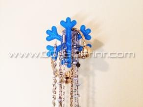 Coat / Jewelry Hanger Organizer Weather Wall Hook – Snowflake