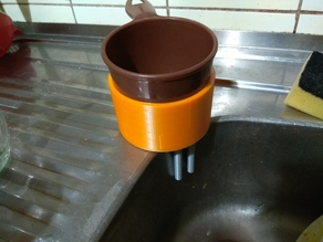 Coffee double filter exhaust