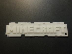 minecraft logo keychain