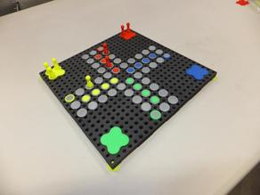 Game board for Ludo or similar games