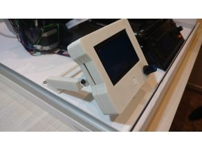 LCD 128x64 Case Support (with angled slider)