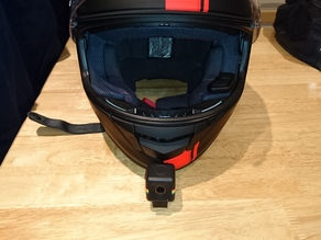 "The ""Jimmy Hill"" Polaroid cube helmet chin mount"