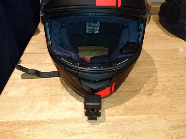 The Jimmy Hill Polaroid Cube Helmet Chin Mount By Feersummendjinn