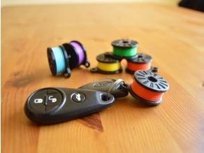 Retro Filament Spool Keychain