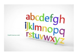 English lowercase study (Alphabet) typographic