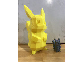 Pikachu Lowpoly Coin Bank