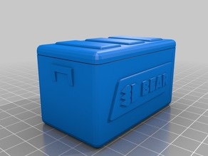 3DBear Picnic Ice Chest - Rubbermaid and Coleman 1/10 remix