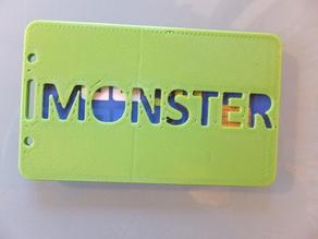 Monster ID badge card holder