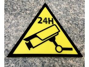 Camera, Video, Surveillance Warning Sign