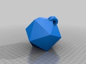 Icosahedron keychain